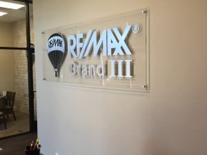 Custom Lobby Sign Remax