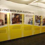 Custom Lobby Vinyl Graphics Business Timeline